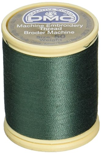 - DMC 237A-50501 Cotton Embroidery Thread 50WT 547Yds Dark Blue Green