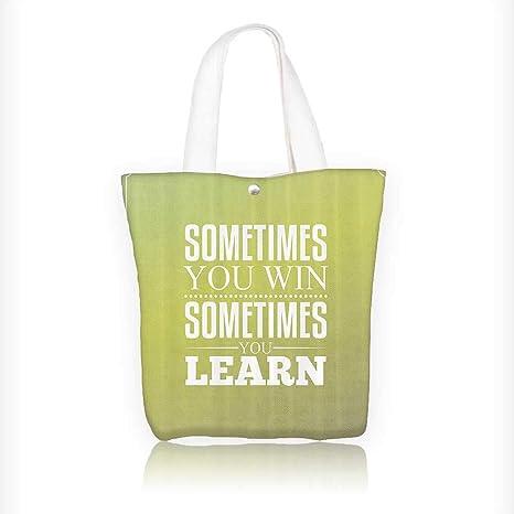 Bolsas de playa de lona, con diseño de frases de