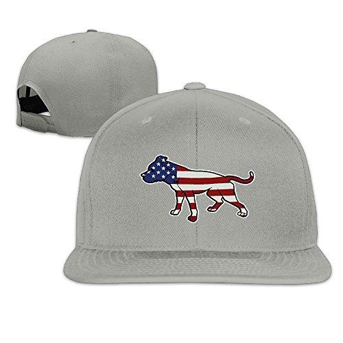 PIT BULL AMERICAN FLAG LARGE DOG ADOPT A DOG USA Pets Flat Billed Trucker Cap