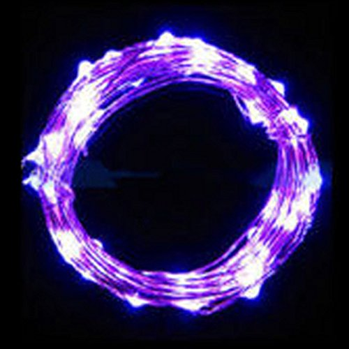 Wenini Christmas Fairy Tale Light - 5M String Fairy Light 50 LED Battery Operated Xmas Lights Party Wedding Lamp- for Christmas Tree Home Decoration (Purple)