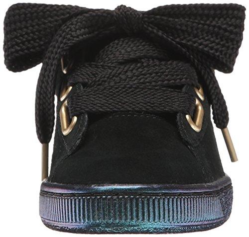 Puma Womens Suede Heart Satin Wns Fashion Sneaker Puma Black-puma Black