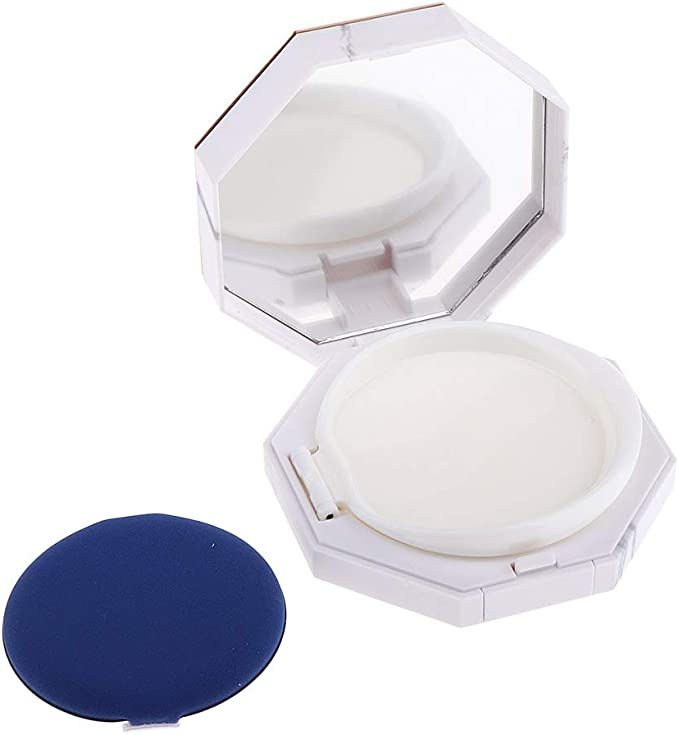 Estuche Vacío de Crema BB Organizador Redondo de Polvos Sueltos con Cojín Accesorio para Viaje - 28 mm: Amazon.es: Belleza