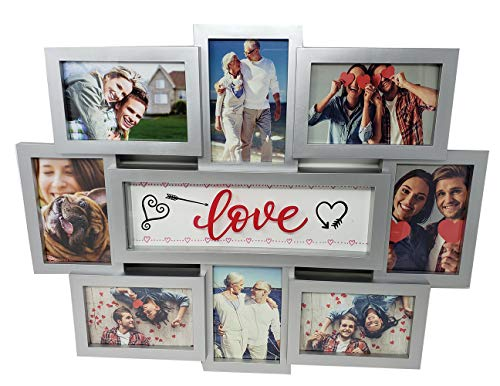 """Picture Frames Collage Display Family Love 8 Section 