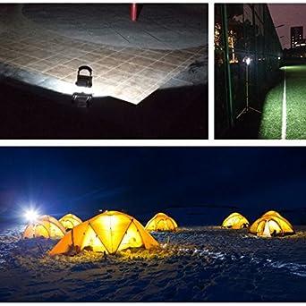 VINGO/® 10W LED Bater/ía recargable Proyector Luz de trabajo recargable Warmwhite Handlamp IP65 Energy Class A ++