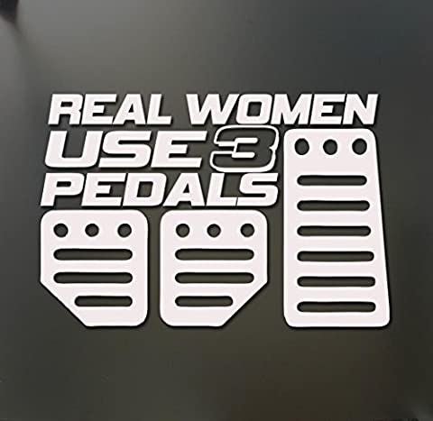1pc Cool Girl Race Car Real Women Use 3 Pedals Funny Truck Stickers Window Decal (Wwf Cheetah)