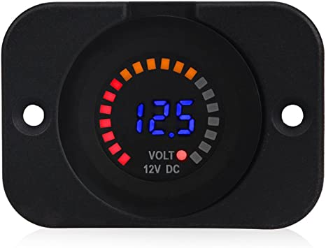 Car Motorcycle Accessory 12V//24V Dashboard LED Display Digital Clock R Hot Sale