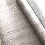 Moyishi Black Wood Contact Paper Self-Adhesive Shelf Liners Countertop Peel And Stick 17.7''x98'' (Gray)