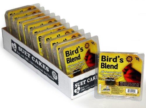 Heath Outdoor Products DD4-12 Birdie's Blend Suet Cake, 11.25 oz., Case of 12 Heath Outdoor -