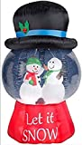 Airblown Inflatables Snow Globe with Hat-Snowman Scene Inflatable