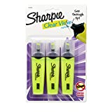 Sharpie Sharpie Clear View Chisel Tip Highlighters, Yellow (1904613)