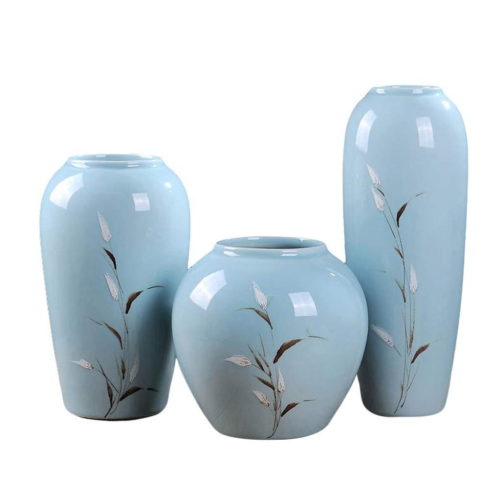 ビンテージ花瓶 花瓶ヴィンテージセラミック花瓶リビングルームフラワーアレンジメント中国風シンプルホームデコレーション Xuan - worth having (色 : A+B+C) B07RSQRK7D A+B+C