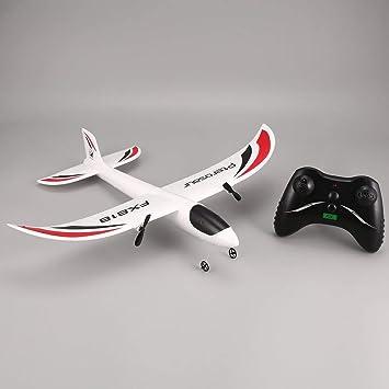 FX FX-818 2.4G 2CH Remote Control Glider 475mm Wingspan RC Avión Drone ToGames-ES: Amazon.es: Juguetes y juegos