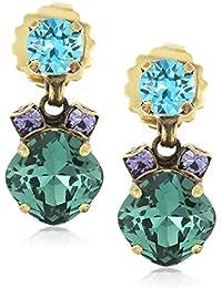 Multi-Cut Crystal Drop Earrings