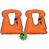 Best Adult Snorkeling Vests - DEHUI GLOBLE Adult Portable Inflatable Canvas Life Jacket Review