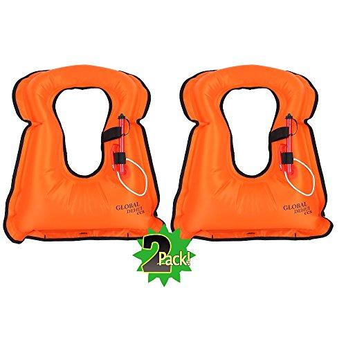 DEHUI GLOBLE Adult Portable Inflatable Canvas Life Jacket Sn