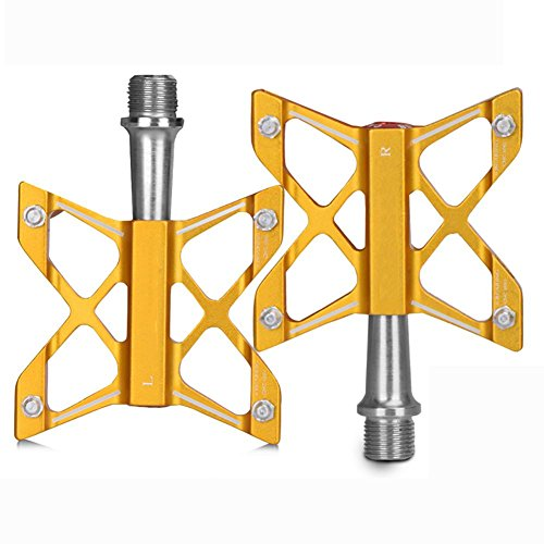 Miao Ultra-léger Roulement En Alliage D'aluminium Pédale De Vélo Montagne Équipement Jaune