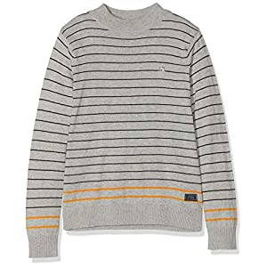 Scotch & Soda Boy's Mock Neck Pull in Cotton-Cashmere Quality Kniited Tank Top