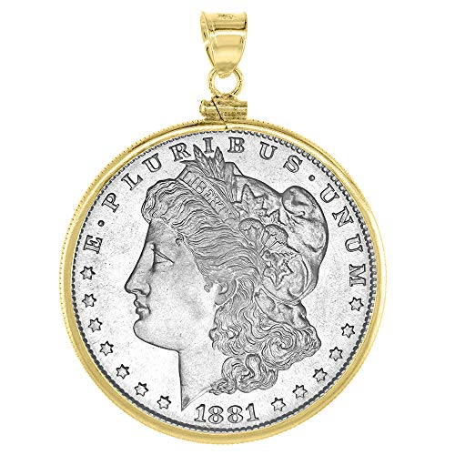 14k Gold Filled Dollar Bezel 38 mm Screw Top Coin Edge Mexican Olympic One Dollar Coin NOT Included