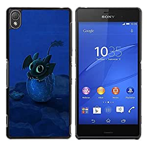 Be Good Phone Accessory // Dura Cáscara cubierta Protectora Caso Carcasa Funda de Protección para Sony Xperia Z3 D6603 / D6633 / D6643 / D6653 / D6616 // Design Happy Cute Dragon