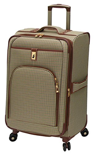 London Fog Cambridge 25 Inch Expandable Spinner, Olive