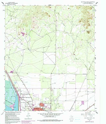 YellowMaps San Angelo North TX topo map, 1:24000 scale, 7.5 X 7.5 Minute, Historical, 1957, updated 1991, 26.8 x 23 IN - Paper