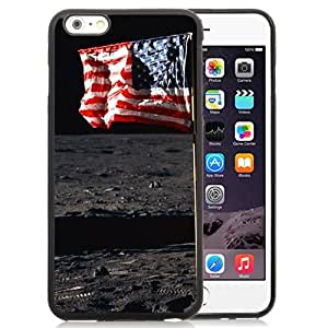 New Beautiful Custom Designed Cover Case For iPhone 6 Plus 5.5 Inch With Usa Flag In Outer Ground Phone Case