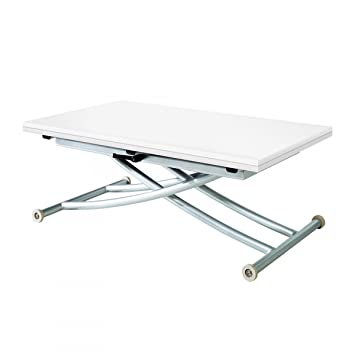 Blanc MatCuisine Extensible Basse First Table Relevable OkwnP80