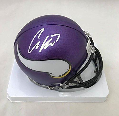 Case Keenum Minnesota Vikings Autographed Signed Matte Mini Helmet COA Certificate Of Authenticity