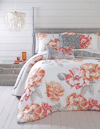 Jessica Simpson 3 Piece Golden Peony Comforter Set Queen