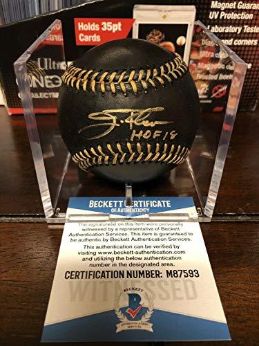 Jim Thome Autographed Signed Official Black Leather MLB Baseball Beckett Coa Cube Hof - Authentic Memorabilia ()