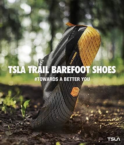 TSLA Men's Trail Running Minimalist Barefoot Shoe