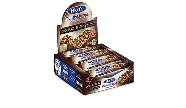 Hero Muesly Barrita de Muesli con Chocolate Negro - Paquete de 12 x 23 gr - Total: 276 gr: Amazon.es: Alimentación y bebidas
