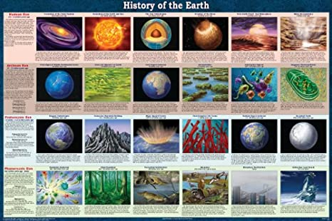 Amazon.com: History of the Earth Poster: Industrial & Scientific