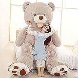 "YXCSELL Giant Teddy Bear Softly Plush with Big Footprints Animal Toys Valentine's Day Birthday Thankgiving Day Gifts 51""/130cm Gray Beak Bear Stuffed"