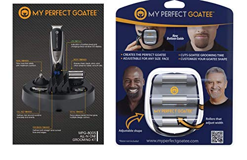 My Perfect Goatee, Men's Goatee Shaving Template and LED Beard Trimmer Kit