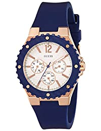 Guess W0149L5 39mm Stainless Steel Case Blue Rubber Synthetic Sapphire Women's Watch