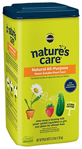 Miracle-Gro Nature's Care Organic & Natural Water Soluble Plant Food 3 LB (Miracle Gro Water Soluble Lawn Food)