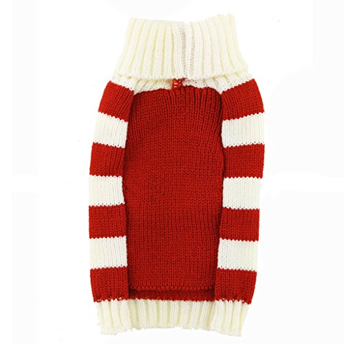 PetsLove Christmas Rangifer Tarandus Dog Clothes Cat Sweaters Pet Jerseys Clothing Gear Coats Apparel Red XS