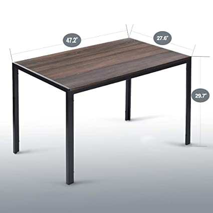 5dae1c00245d2 Amazon.com  Aingoo Rustic Dining Table Wooden MDF 47