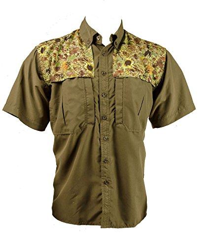 Sunflower Camo Full Print Button Down Shirt (2XL, Sunflower Camo Brown Print Button Down Shirt)