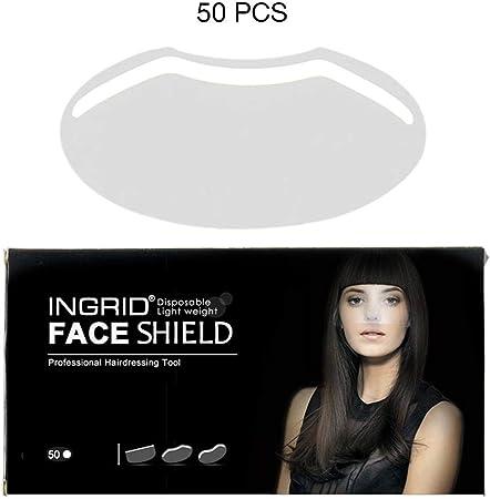 Pack de 50 Hairspray Shield Mascarilla de protección facial desechable de plástico para el corte de pelo: Amazon.es: Hogar