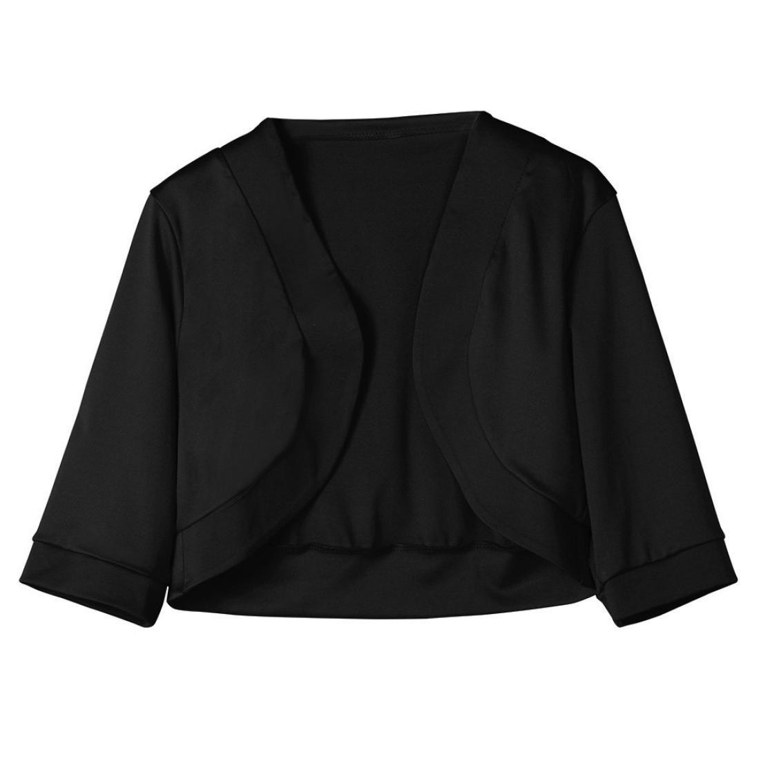 Amazon.com: FORUU womens Tops & Tees Short Cardigan, Womens Half Sleeve Solid Mini Fashion Office Work Coat FORUU: Clothing