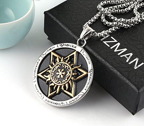 HZMAN Talisman Seal Solomon Six-Pointed Star Pendant Hermetic Enochian Kabbalah Pagan Wiccan Jewelry