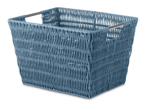 Whitmor Rattique Small Storage Tote Berry Blue - Whitmor Storage Tote