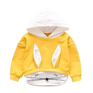 Kids Boy Girls Cartoon Hooded Sweatshirt Pullover Jumper Top Jacket Coat Outwear