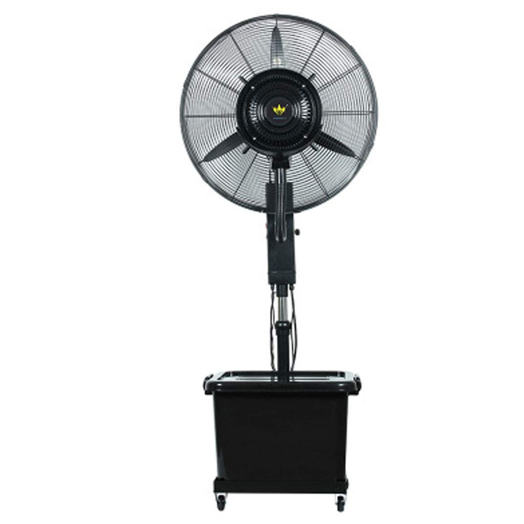 Atomized Standing Spray Fan Pivoting Fan Head Industrial Commercial Cooling Fan High Power Evaporative Air Cooler 40 L Water Tank Silent Sleeping Black - Diameter 65cm by LLZ-Fan