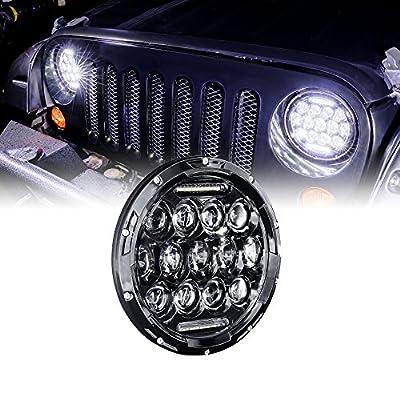 "OLS Universal 7"" x 6"" 45W LED Headlight [Plug & Play] [Energy Efficient] [Rugged] - Sealed Beam Square/Rectangular Headlight (High/Low Beams: 6/15 LEDs)"