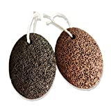 Natural Earth Lava Pumice Stone for Remove Dead Skin, Home Pedicure Exfoliation, Premium Callus Remover for Feet and Hands, Exfoliation to Remove Dead Skin for Men or Women (2 Pcs, brown)