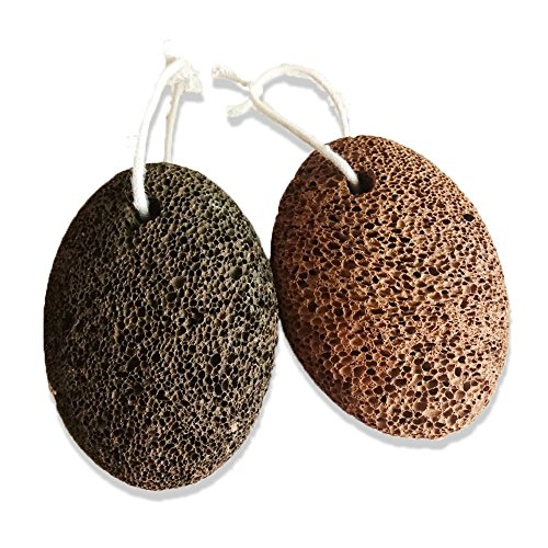 Natural Earth Lava Pumice Stone for Remove Dead Skin, Home Pedicure Exfoliation, Premium Callus Remover for Feet and Hands, Exfoliation to Remove Dead Skin for Men or Women (2 Pcs, brown) by AOLINPKE