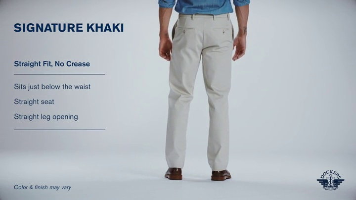 Pantalón Dockers Straight Fit Signature Khaki para hombre D2